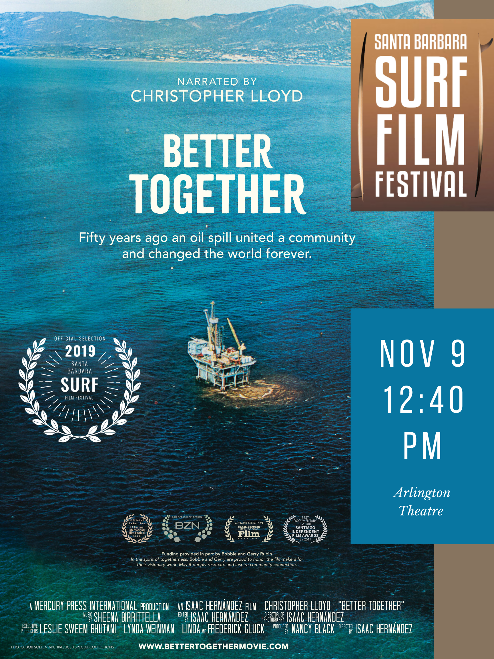 Better Together at the SB Surf Film Festival 11-9-19