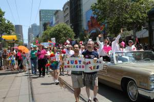 MEUSA hosted a large contingent in the 2013 San Francisco Pride Parade
