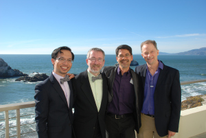 Jeff and Thom with Stuart and John at the Cliff House, September 28. ©2013 Levi Smith Photography