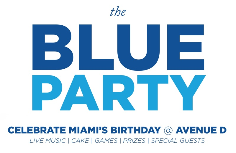 The Blue Party: Celebrate Miami's Birthday