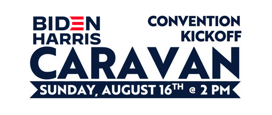 Biden Convention Kickoff Caravan