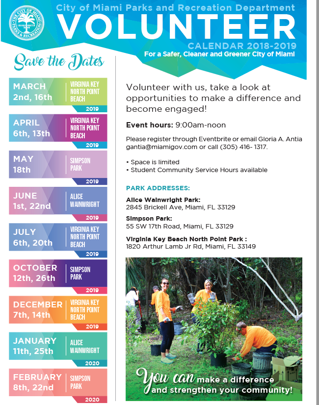 Simpson Park Cleanup - May 18 - Miami Waterkeeper