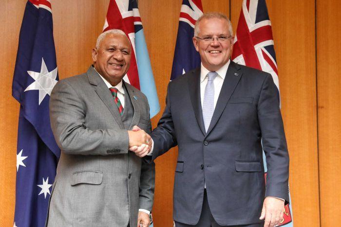 Fiji PM and Scott Morrison