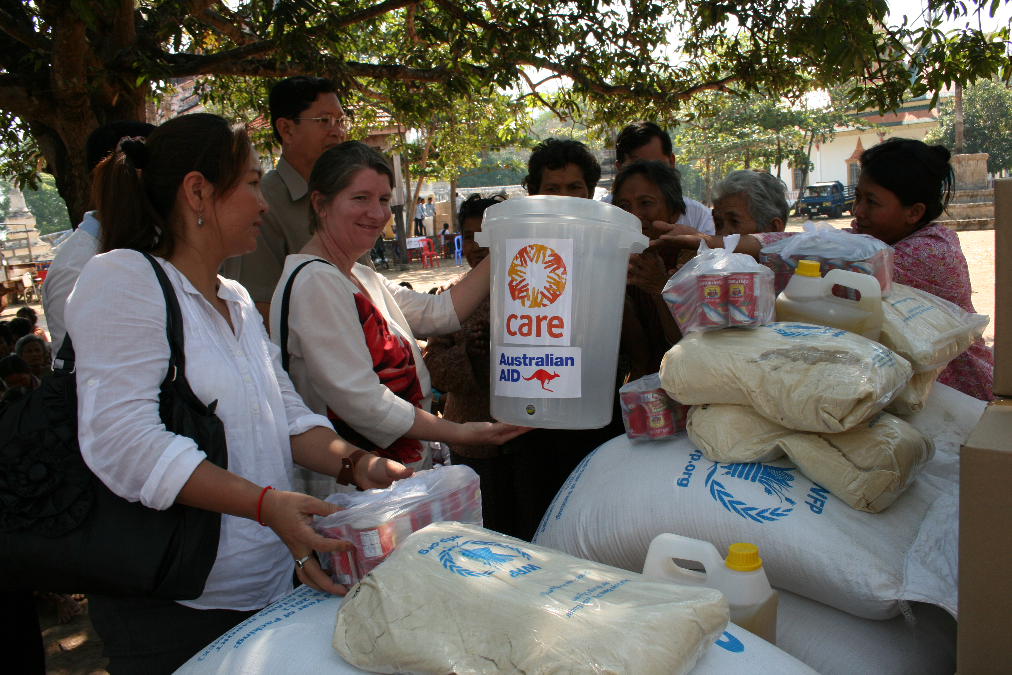 Aid workers in Cambodia