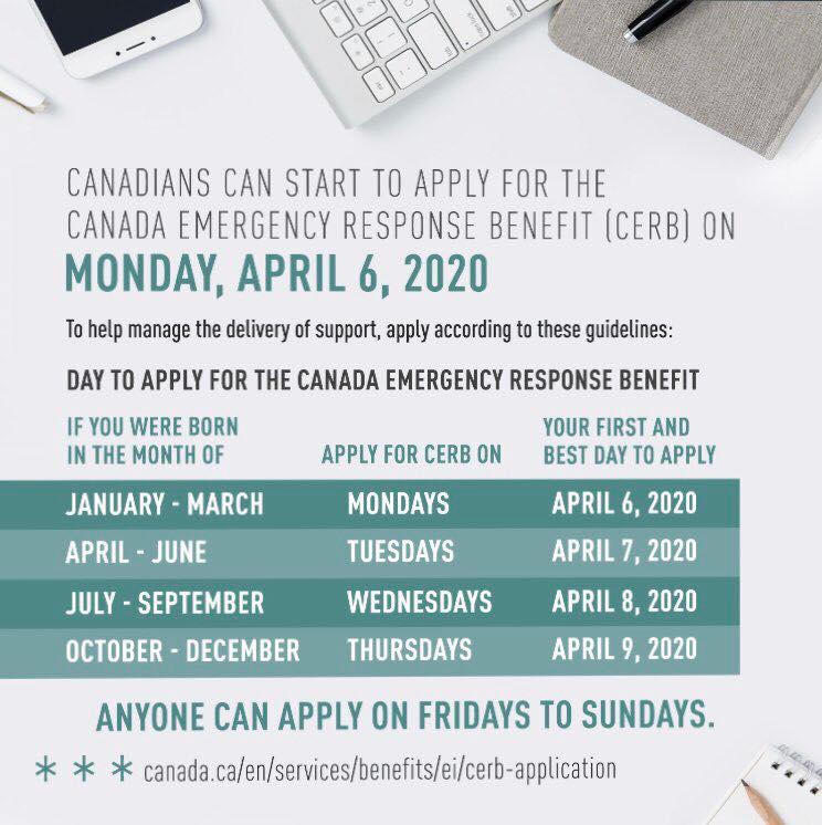 Canada Emergency Response Benefit (CERB) Application