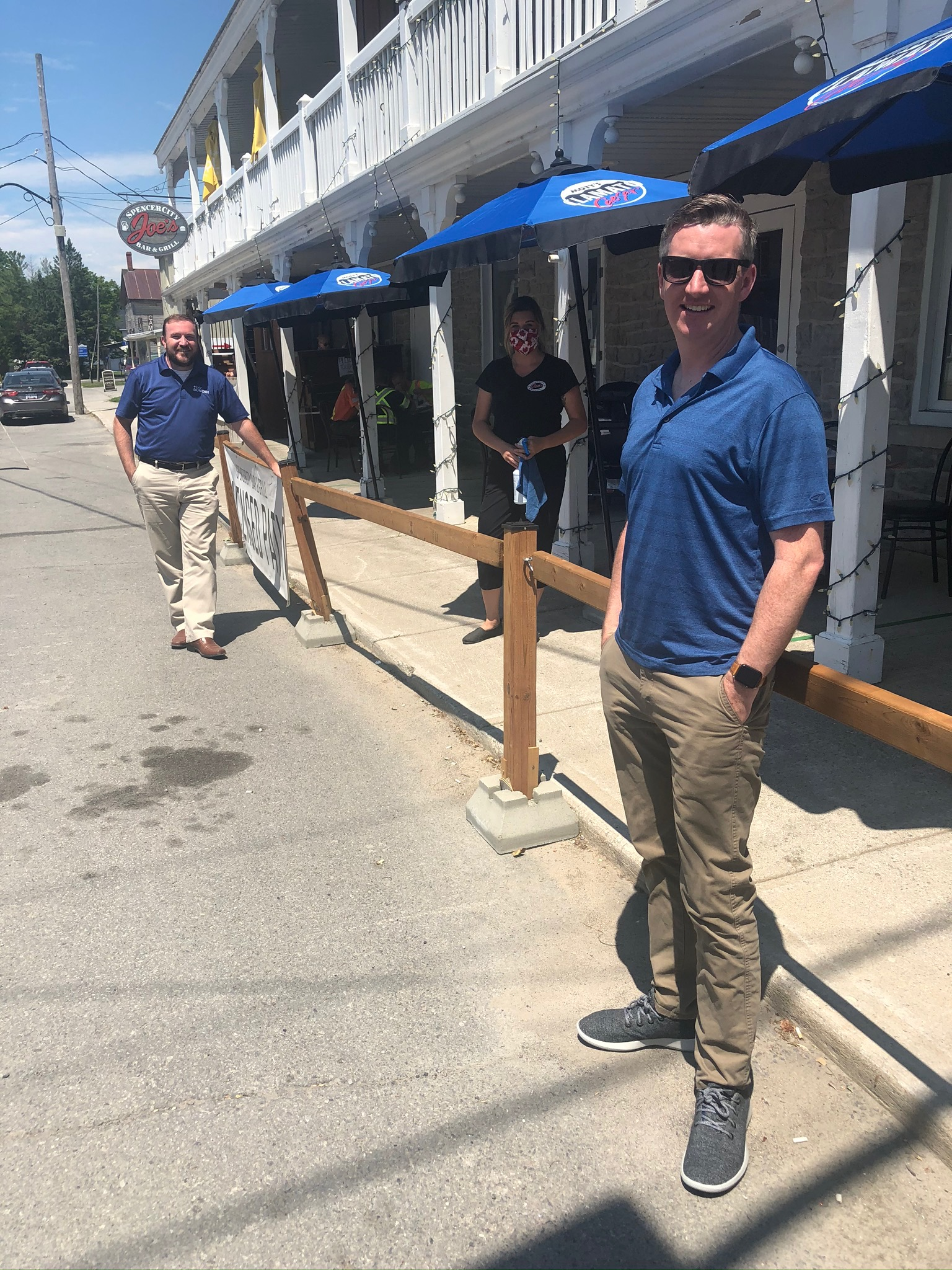 It was a beautiful day to visit businesses in downtown Spencerville