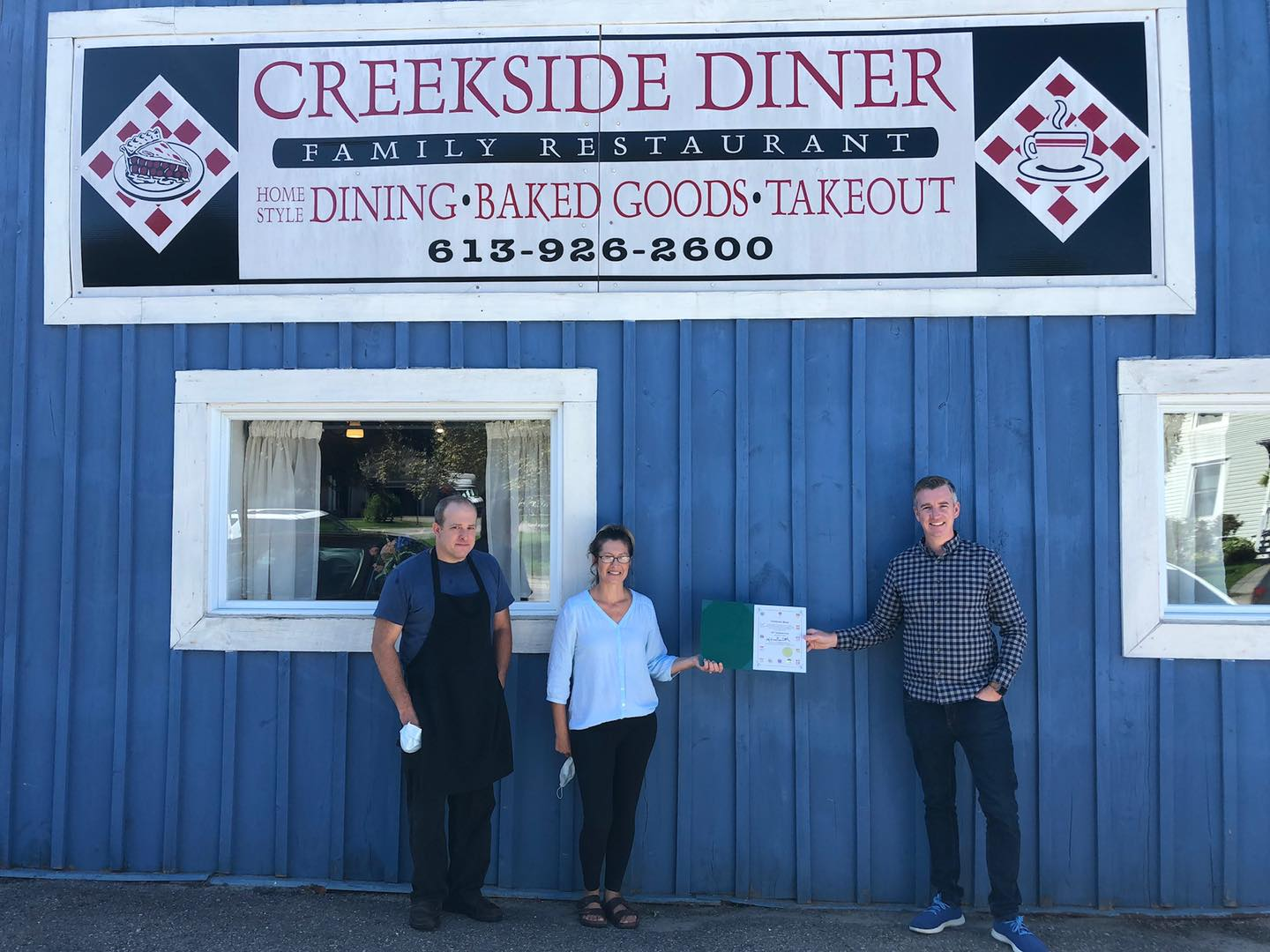 Congratulating Creekside Diner on 10 Years