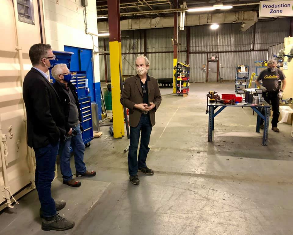 Touring Newterra in Brockville with MP Gary Vidal, Shadow Minister for Indigenous Services