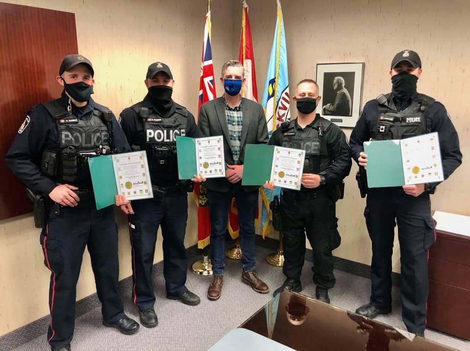 Honouring Local Police Force Members