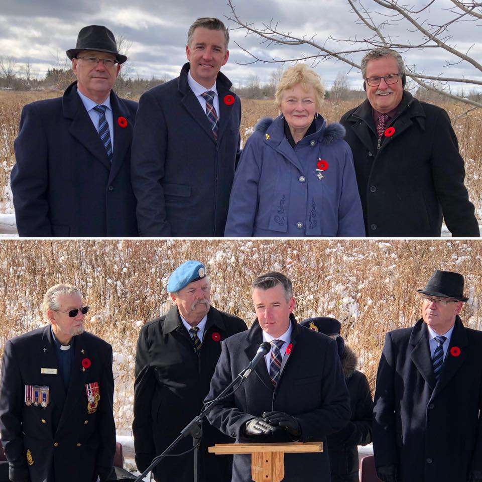 Joining Canadian Forces and Legion members in Mallorytown and Brockville to mark Remembrance Day - 11/09/2019