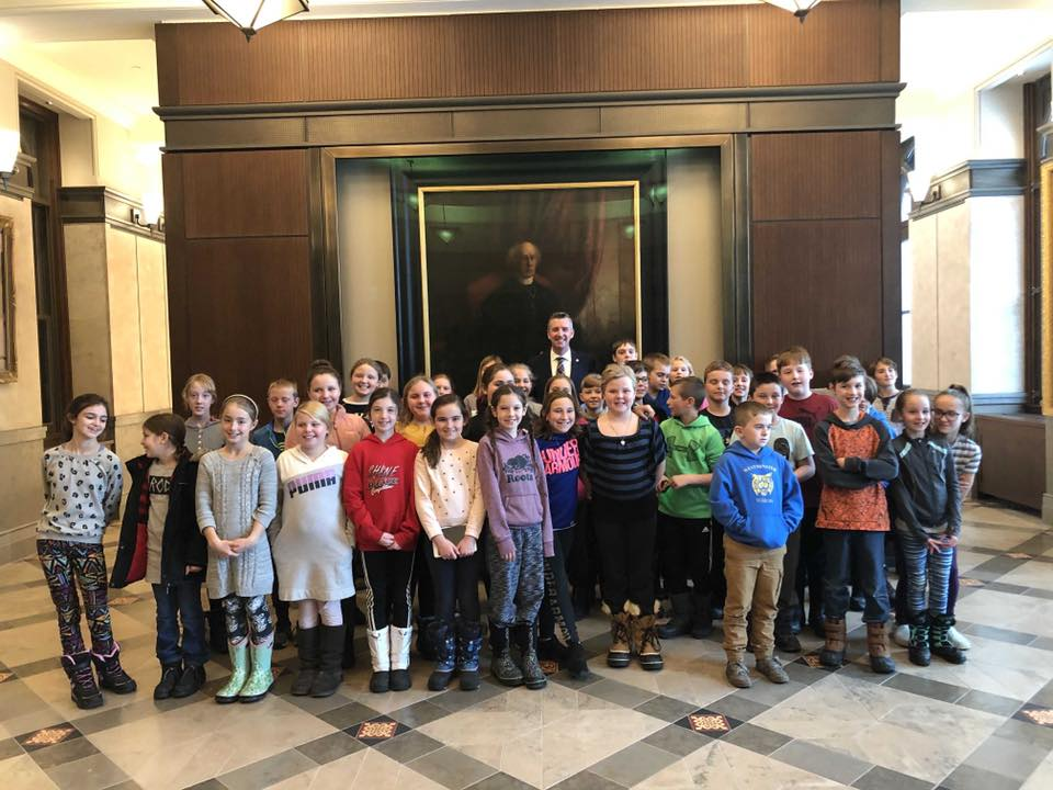 Students from Westminster PS Visiting Parliament Hill - 11/22/2019