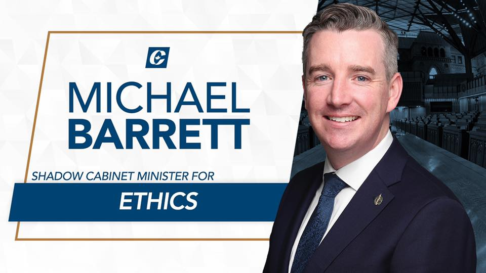 Barrett Named Shadow Minister for Ethics - 11/29/2019