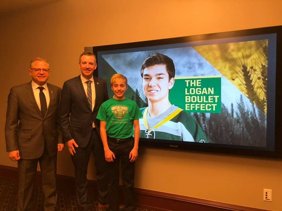 Local Student Presentation on Parliament Hill about Logan Boulet Effect - 02/06/2020