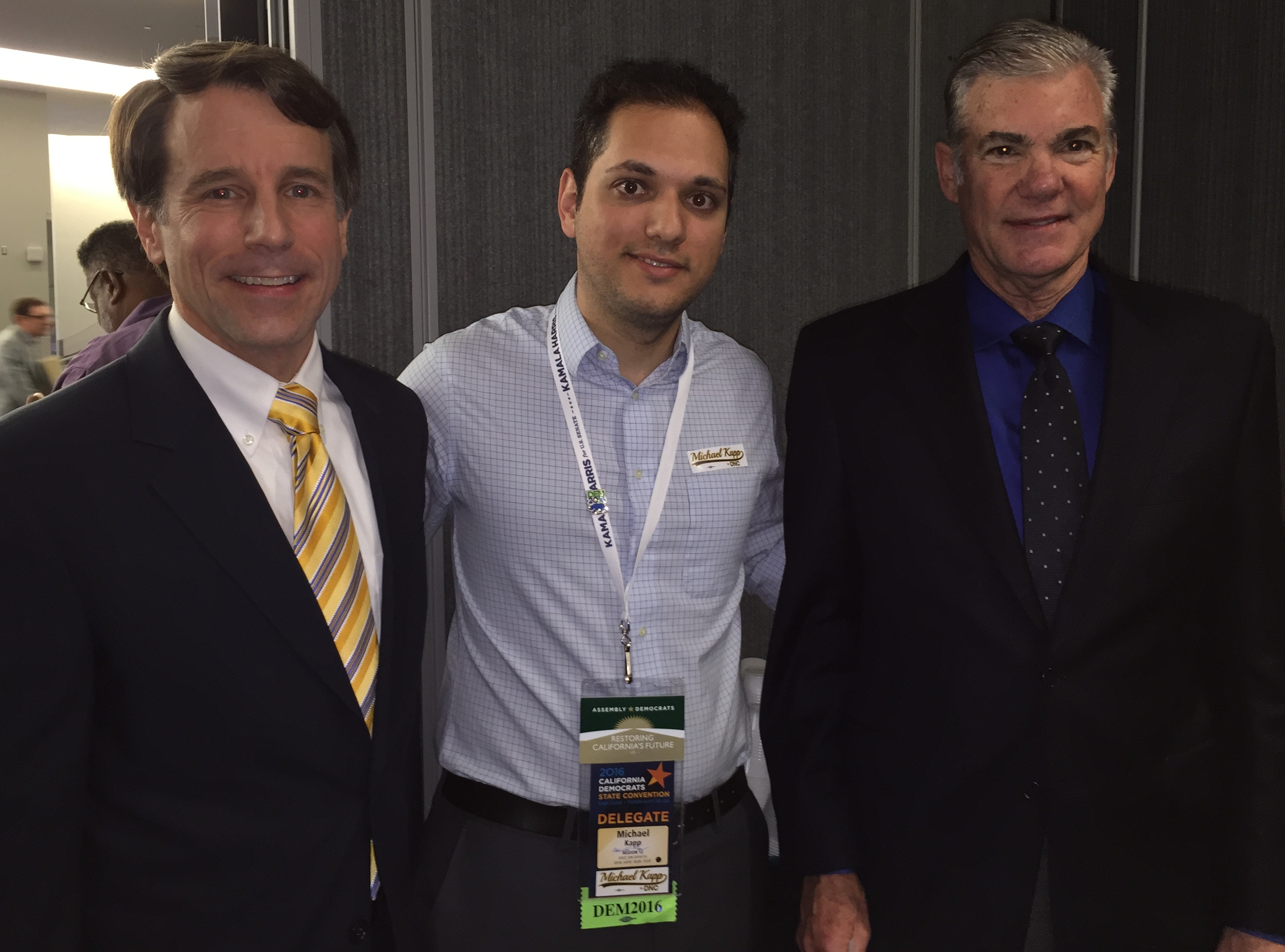 Michael Kapp with California State Insurance Commissioner Dave Jones and State Superintendent Tom Torlakson