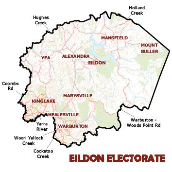 Eildon Electorate Map