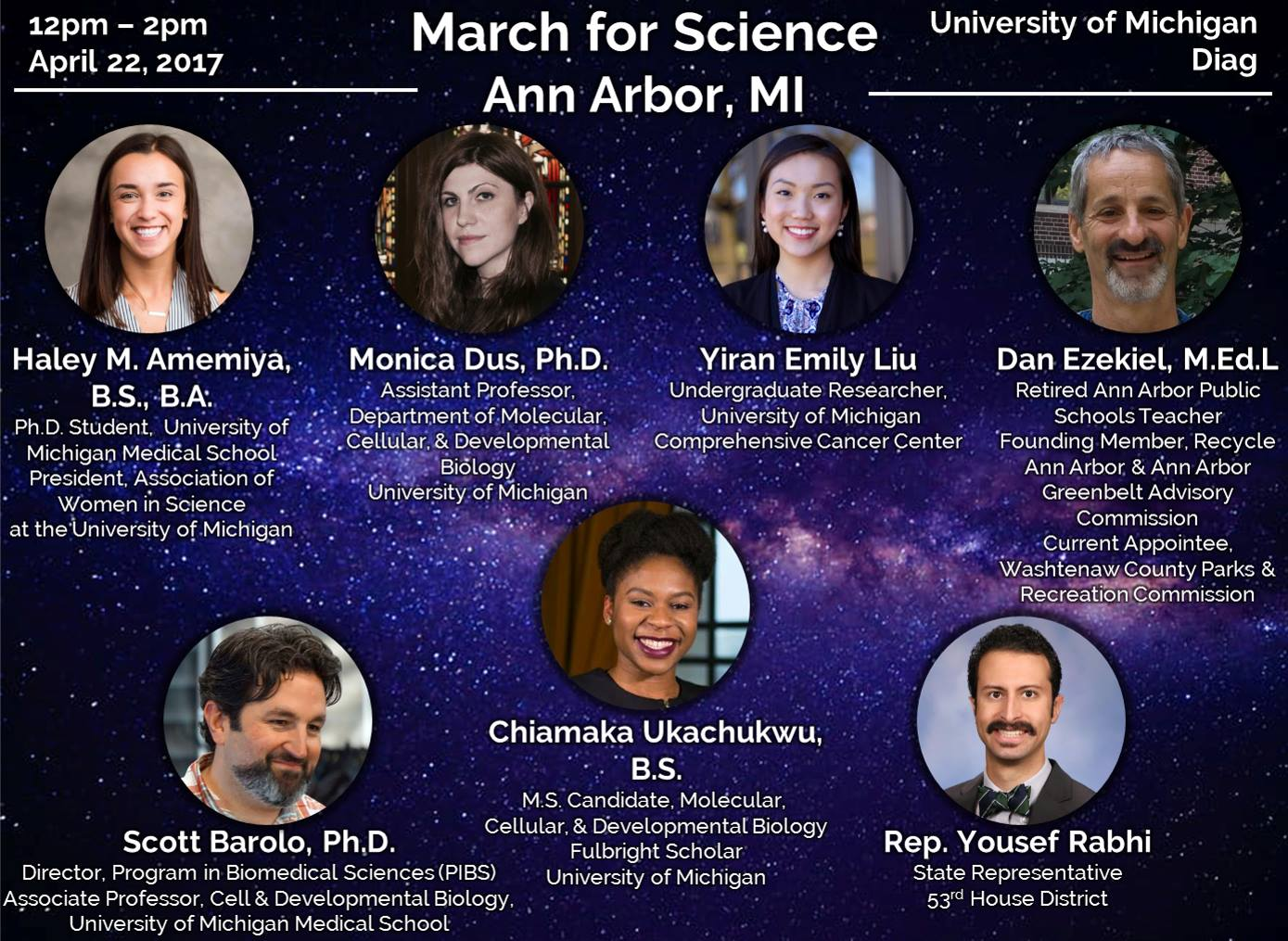 Speakers for March for Science