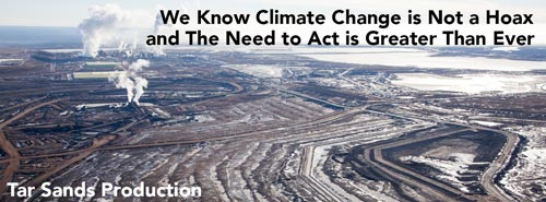 Tar Sands Production - We must act now