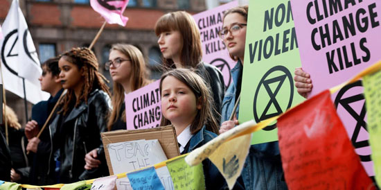 Children Protesting for Climate Action