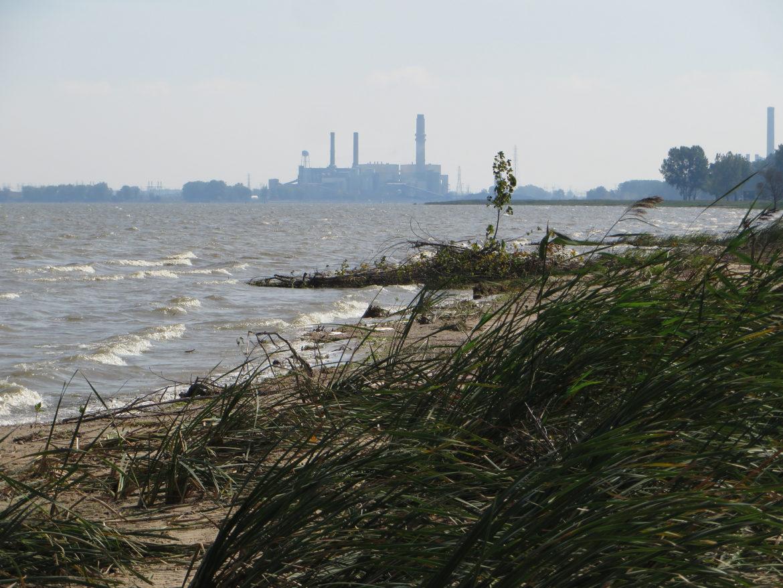 Karn-Weadock Coal-Powered Generating Plant, Saginaw Bay, Bay City, Michigan