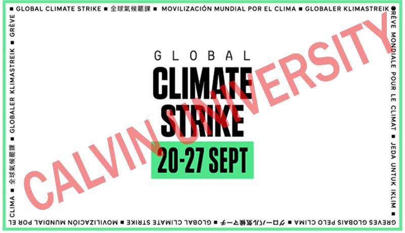 Calvin University Climate Strike