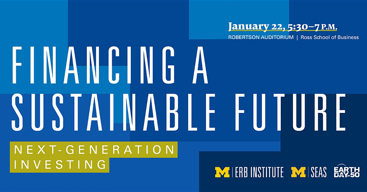 Financing a Sustainable Future