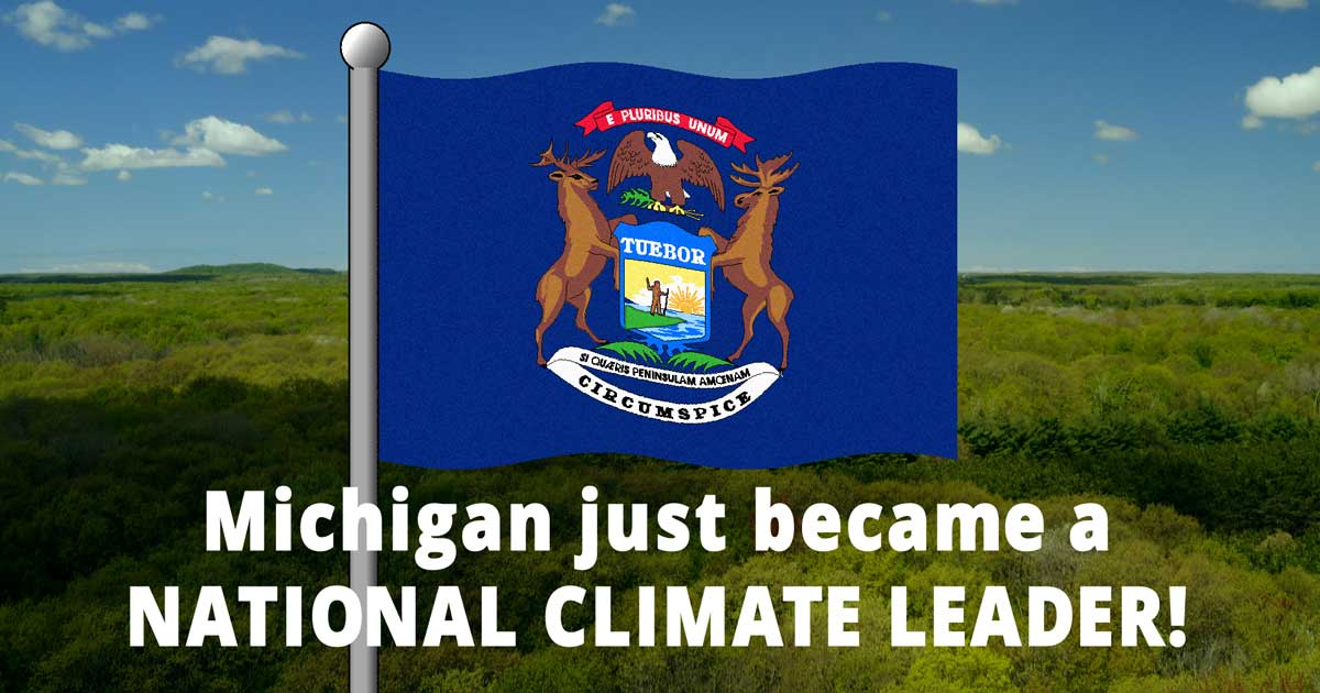Michigan Now a Climate Leader