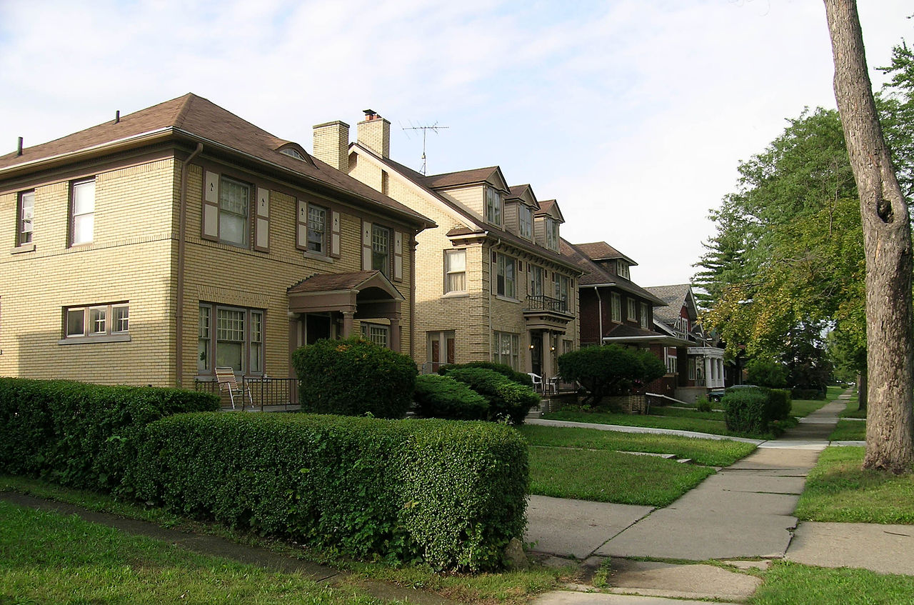 Residential street in Highland Park, MI