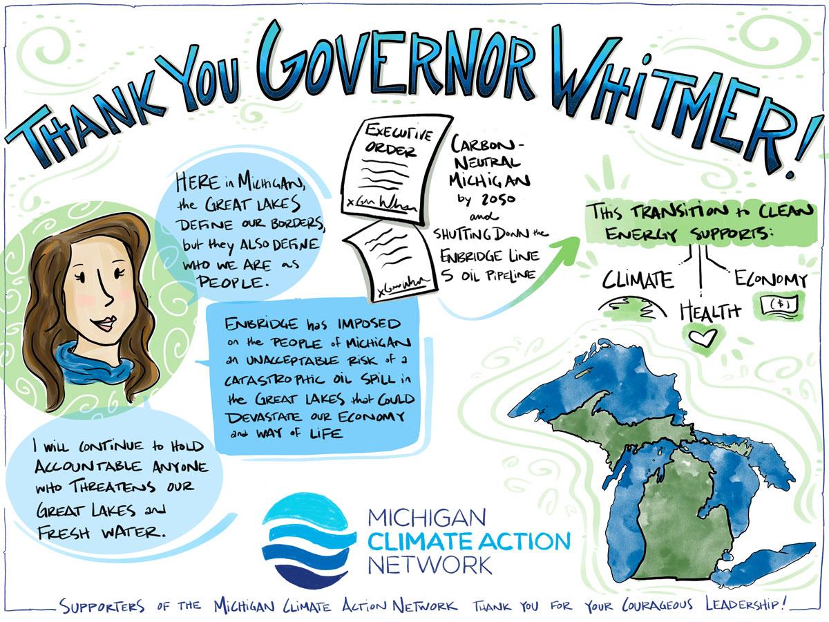 Thank You Illustration for Gov. Whitmer
