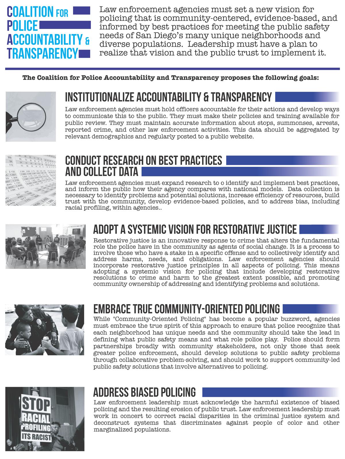 CPAT goals for law enforcement