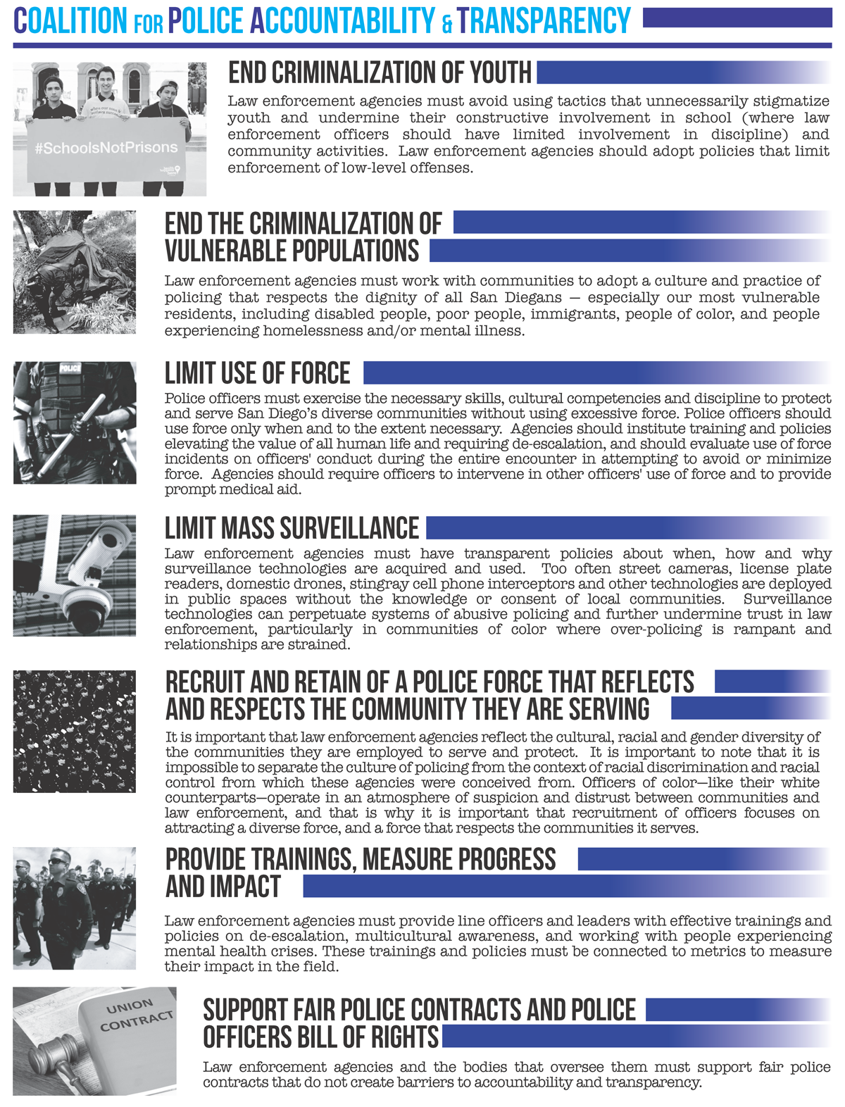 CPAT goals for law enforcement
