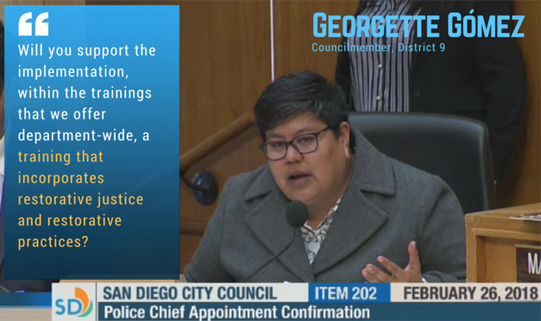Georgette Gómez, Councilmember D9, on Restorative Justice