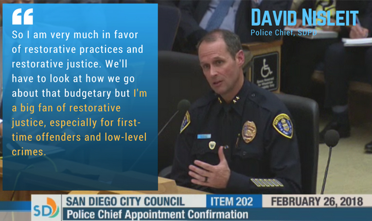 Chief Nisleit on Restorative Justice