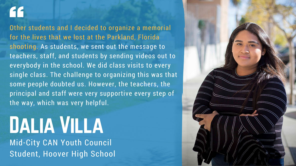 Dalia Villa, Youth Council, Student Leader