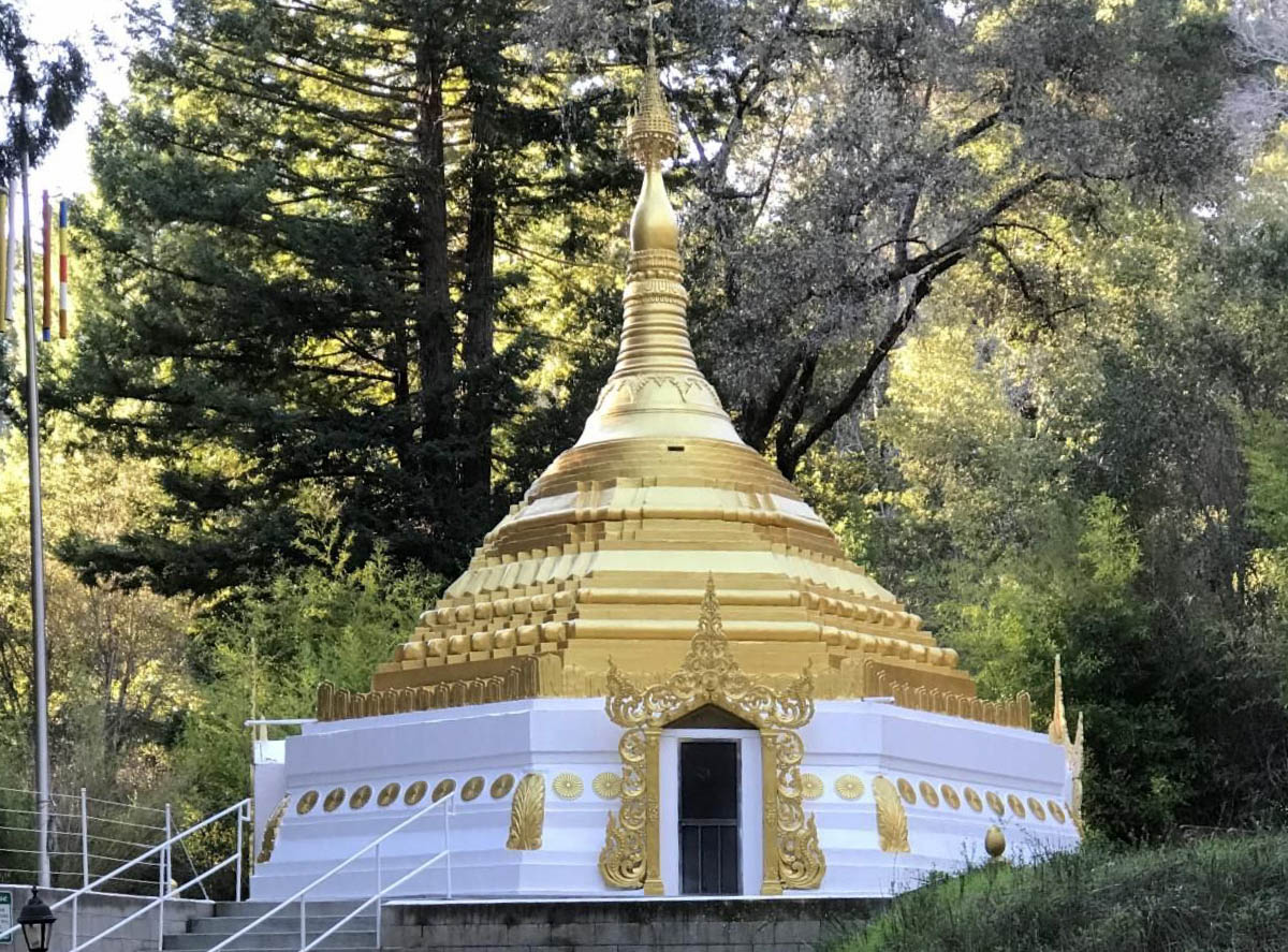 Stupa designed & constructed by David Leonard