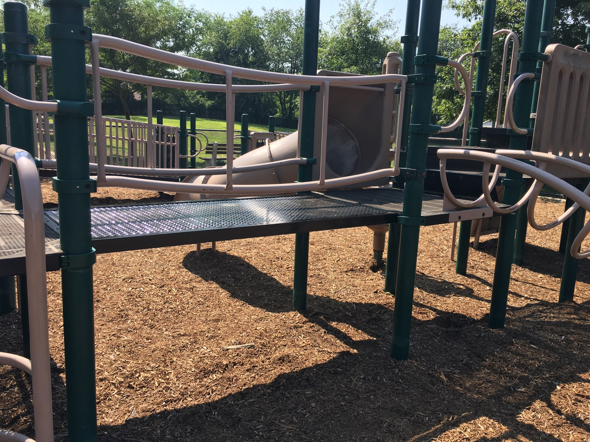 Under Andre Sorrentino's leadership, this bridge on the playground at Huntington Station's Depot Road Park was replaced. Prior to Andre's joining Town leadership as the head of the General Services Department, this playground bridge had been broken and closed for two years.