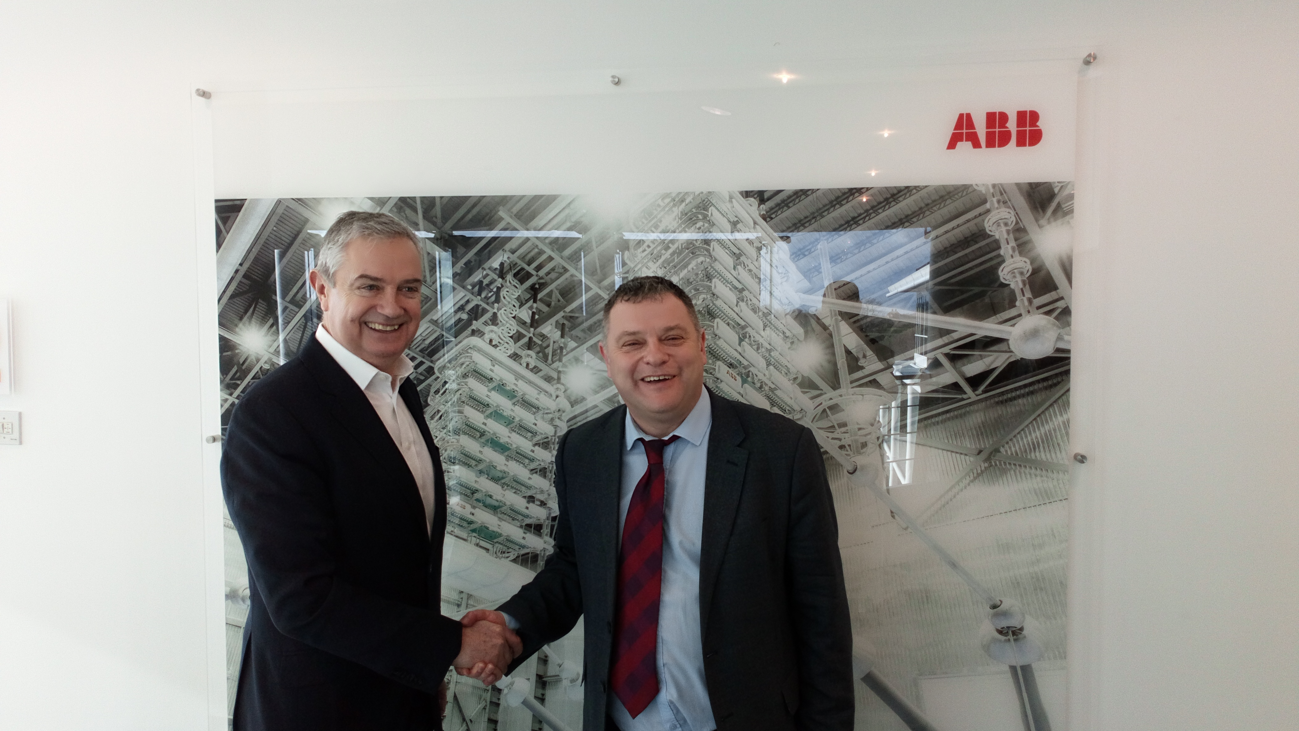 Mike with Ian Funnell, CEO of ABB