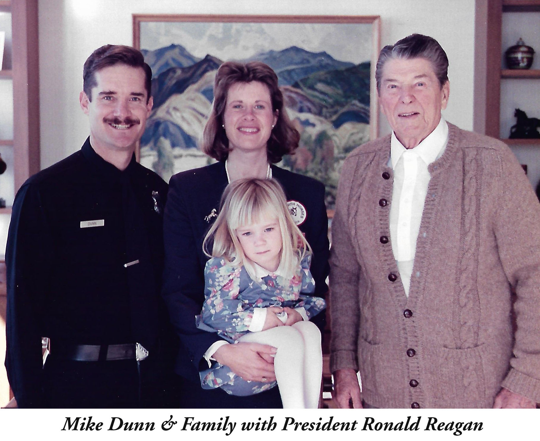 Mike Dunn & Family with Ronald Reagan