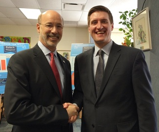 Commissioner Pipe with Gov. Wolf