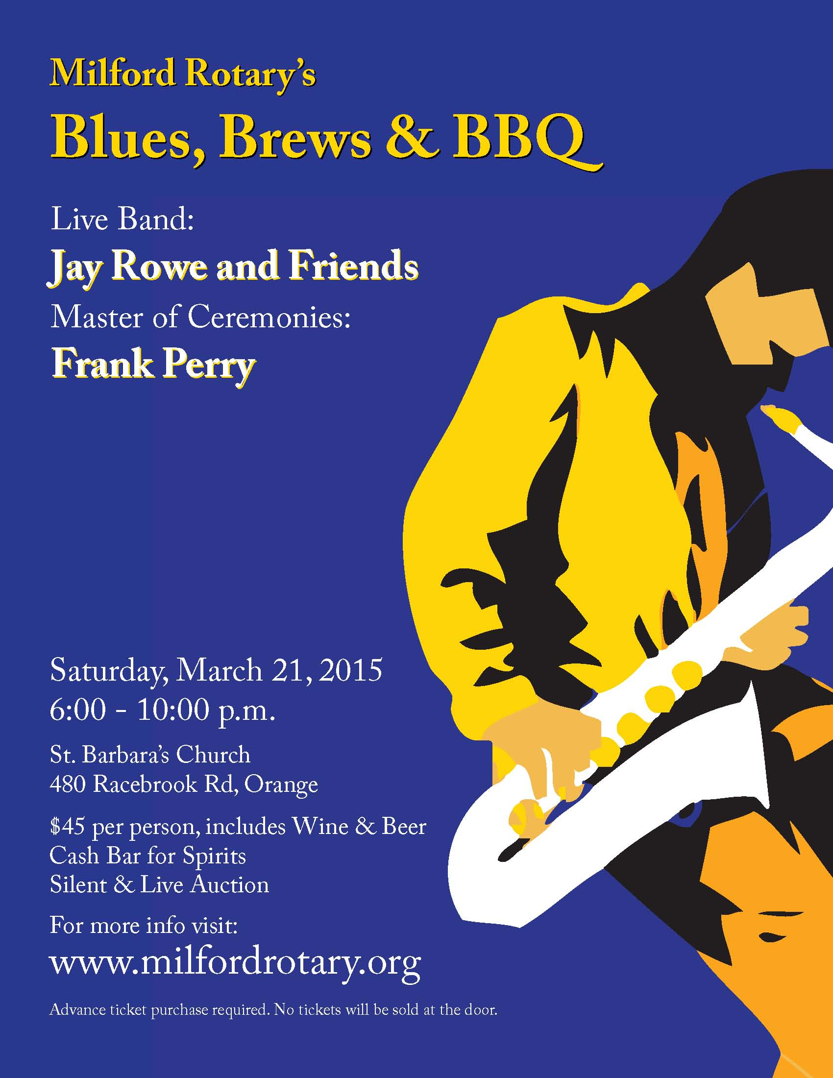 Blues, Brews & BBQ is March 21, 2015!