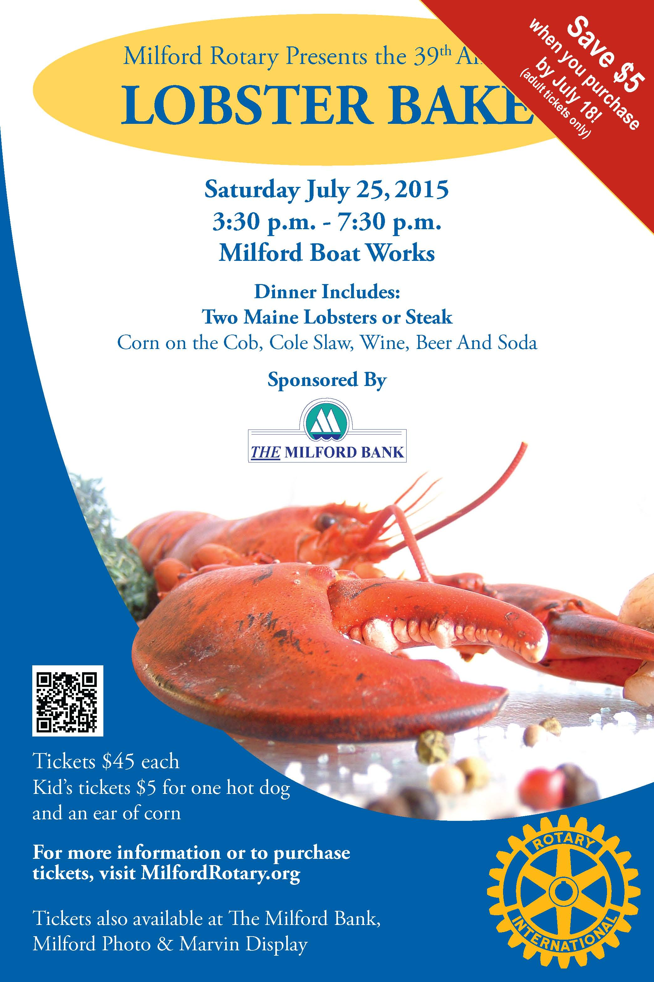 Lobster Bake July 25, 2015