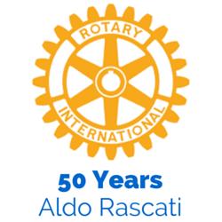 Aldo Rascati - 50 Year Rotary Membership