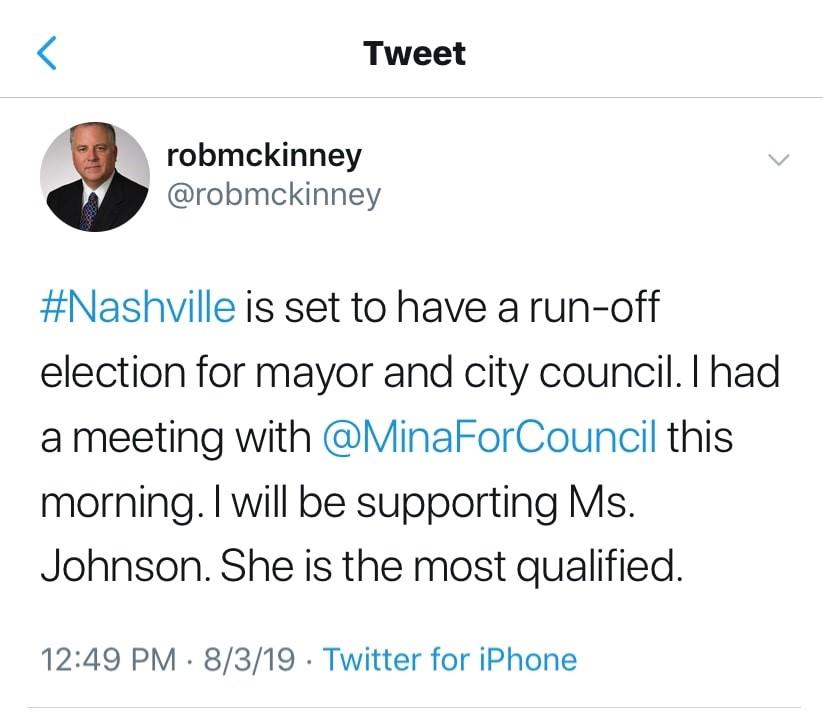 McKinney Tweet