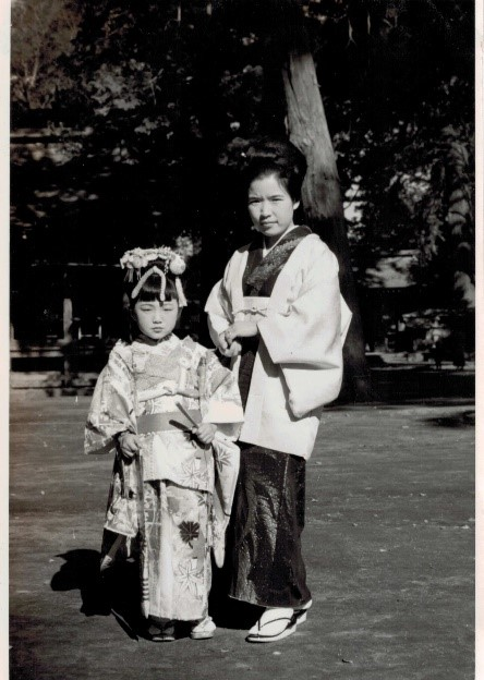 Me and my mom in traditional Japanese attire