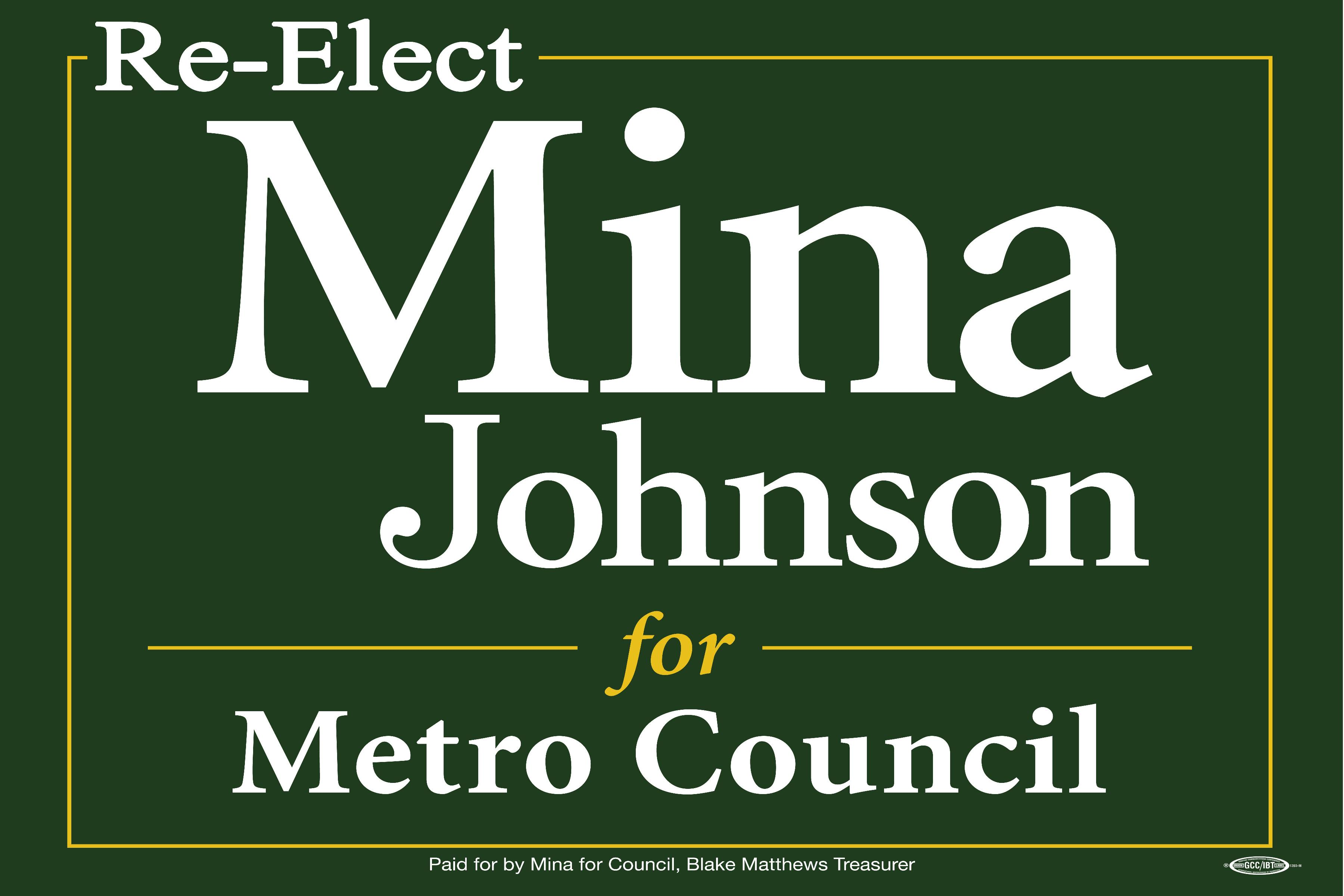 On the Issues - Mina for Council