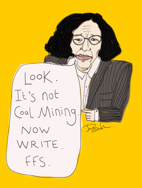 Fran Lebowitz is my muse and she's scary