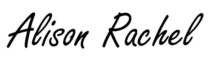 Alison Rachel Signature