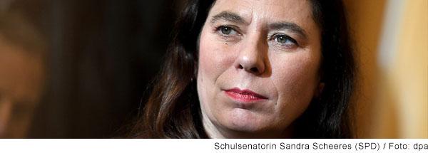 Portrait von Schulsenatorin Sandra Scheeres (SPD)