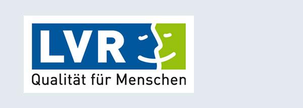 """Logo des LVR mit Schriftzug """"Qualität für Menschen"""""""