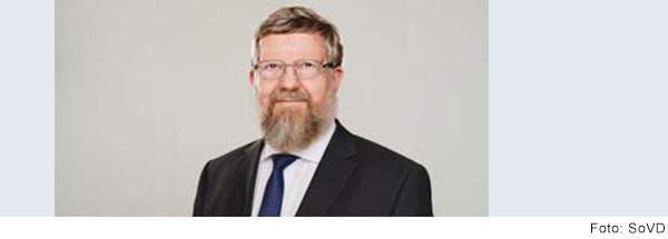 Porträt von Adolf Bauer, SoVD-Präsident