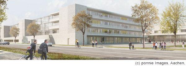 Bild von modernem Schulkomplex